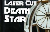 Estrella de la muerte del corte del laser