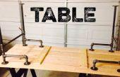 Negro mesa de tubo de hierro