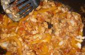 Tilapia en salsa de vegetales