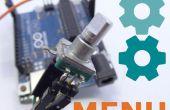 Menús de Arduino fácil de codificador rotatorio