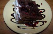 Pastel de frambuesa chocolate
