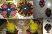 Fácil - reciclar CD como posavasos, colgando de la pared e imanes del refrigerador