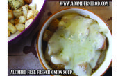 Sopa de cebolla francesa libre de alcohol