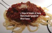 5 pasos para Spaghetti casero Simple y sabrosa salsa de carne