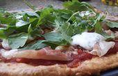 Gluten Free con una coliflor corteza de la Pizza