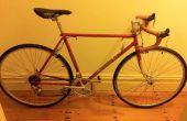 Restaurar un vintage bicicleta contenedor