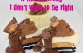 Si esto está mal no quiero ser derecha chocolate mantequilla de maní mini tarta de queso