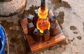 Molde para soplado de vidrio de madera
