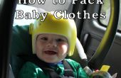 Consejos para viajar con un bebé: ropa de bebé de embalaje