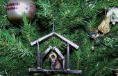 Soldado con autógena ornamento del árbol de Navidad de uñas