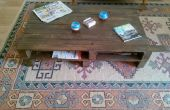 Plataforma de madera con ruedas mesa