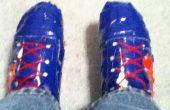 Cómo cambiar el tamaño de un par de zapatos de cinta