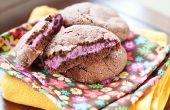 Cheesecake frambuesa rellena las galletas