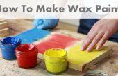 Cómo hacer pintura de cera