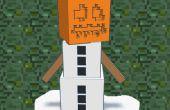 Ornamento de Golem de nieve de Minecraft