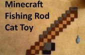 """Minecraft caña Cat juguete - longitud ajustable """"línea""""."""