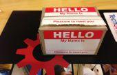 """Cómo hacer un láser corte titular de la placa """"Hola mi nombre es"""""""