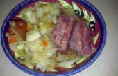 Corned Beef y repollo en una olla