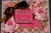 Cómo hacer una tarjeta de arte Floral de enrejado fondo