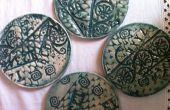 Posavasos de cerámica de textura