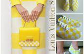 DIY Tutorial zapatos: Louis Vuitton amarillo cuadros imprimir