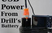 Energía del USB de la batería del taladro
