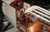 Sopwith Pup tablero y motor Le Rhone WW1 (motor simulado para perrito de Sopwith de escala 1/3)