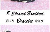 Hacer una hermosa pulsera de cuero 8 strand trenzado
