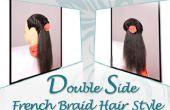 Doble lado francés trenza peinado