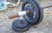 Convertir una pulgada peso bar olímpico