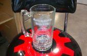 Sistema de alineación de taza de cerveza grabado con láser