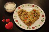 Vegetal arroz cocido con leche de coco