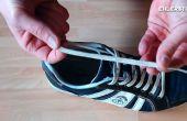 Cordones de los zapatos DIY anclajes - sin nudos. No hay arcos.