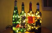 Luz de acento de la botella de vino