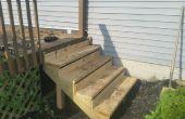 Instalación de nuevos pasos a un porche