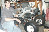 Construir un enorme RC MONSTER TRUCK - ruedas de carro de Golf - ciclomotor Motor - control remoto