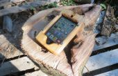 Caja madera teléfono