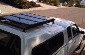 Instalación de un rack de techo bricolaje para paneles solares