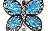 Mariposa revoloteando de papel