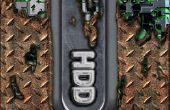 Etiqueta de HDD de Xbox 360 en Photoshop