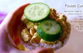 """Sandwich de """"Poulet-Curry"""" belga relleno (GF)"""