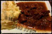 Lento cocina belga carne y estofado de cerveza