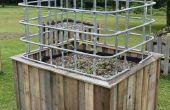 Construir una gran auto riego jardín y el invernadero con materiales reutilizados