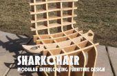 SHARKCHAIR: Modular muebles diseño de enclavamiento