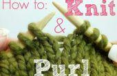 Como rimas y Knit y Purl...!