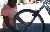 Cómo parchear un pinchazo en una bicicleta