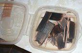 Reciclar madera de desecho para la mejora de los espíritus.