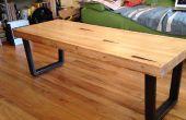 Mesa de centro de lane bolera recuperada - para un no-carpintero viviendo en apartamento pequeño