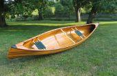 Construcción de una canoa de cedro tira