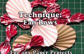 Cómo hacer arcos de ventilador de papel para su artesanía